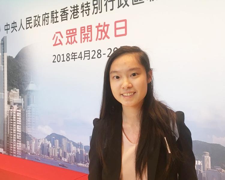 對於有說法指中聯辦干預香港事務,李同學認為「干唔干預需看定義」。