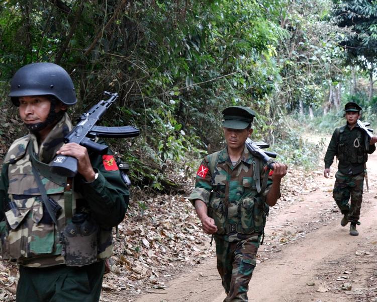 緬甸北部的克欽獨立軍。AP