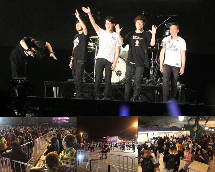 五月天首晚演出順利,主辦單位聽取歌迷申訴,說會改善有關保安問題。