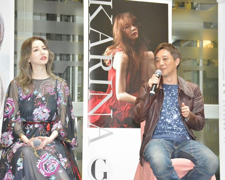 香里奈與攝影師宣傳其寫真集。