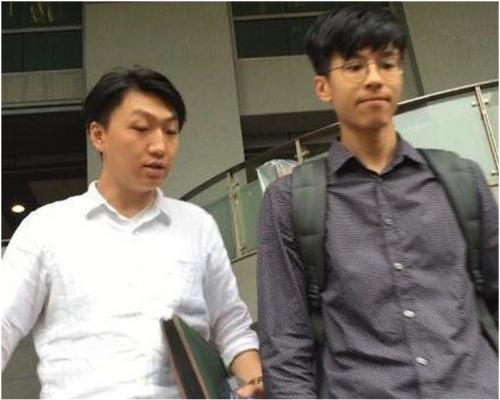 梁天琦(左)及黃台仰。資料圖片