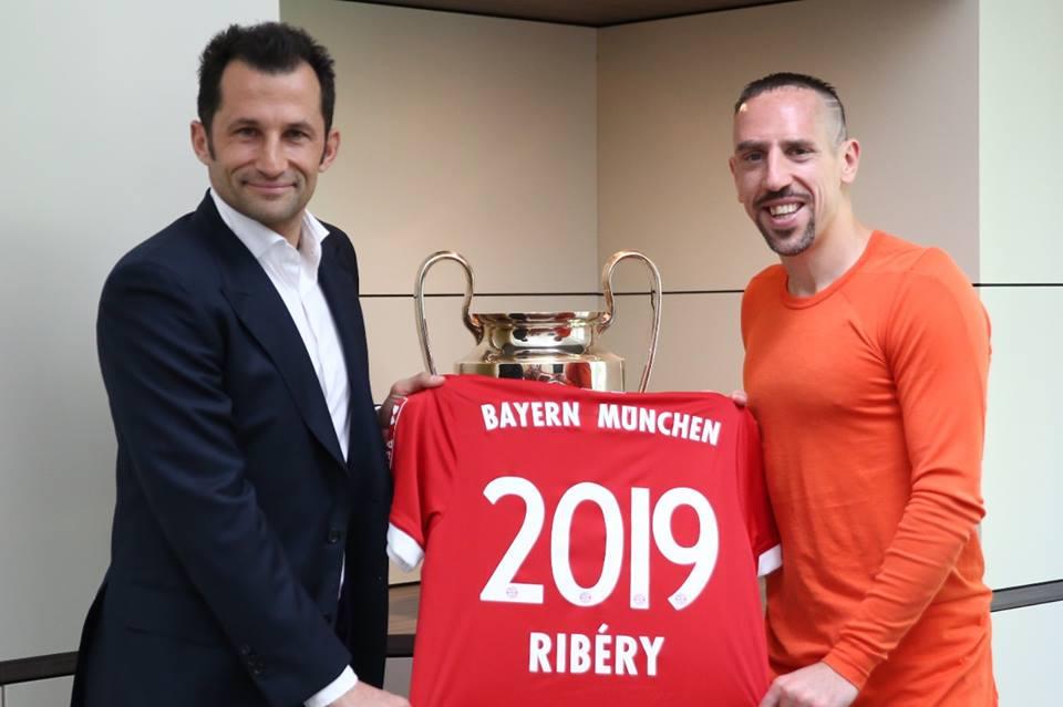 35歲列貝利高齡續約拜仁一年。列貝利fb圖片