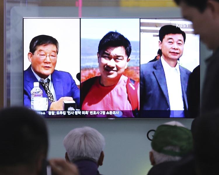 3名遭北韓囚禁的美國人。AP