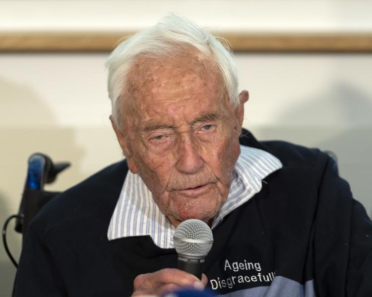 澳洲104歲科學家古德柯博士。AP