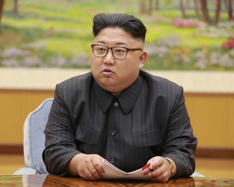 北韓領導人金正恩。AP