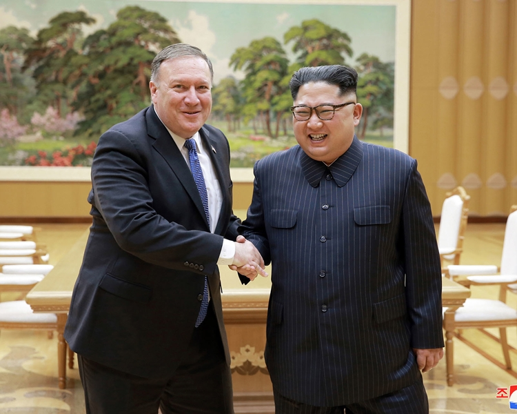 蓬佩奧早前訪問北韓,並與金正恩會面。AP