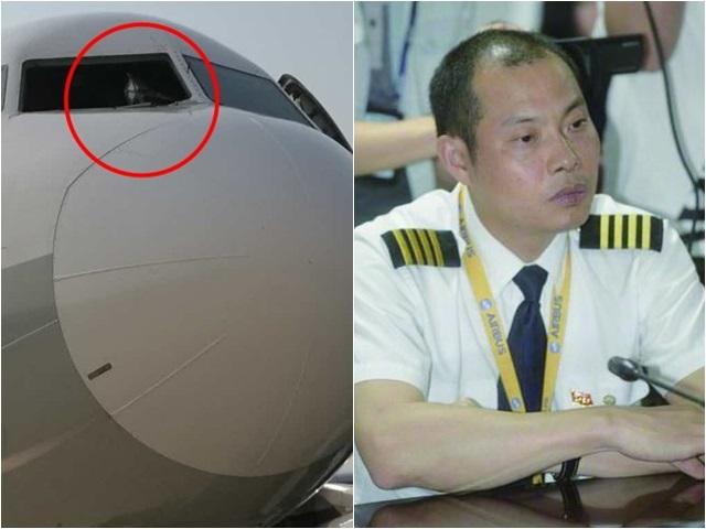 劉傳健(右)獲封為「英雄機長」。網圖