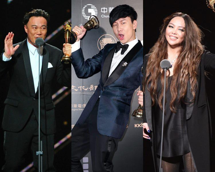 Eason、JJ及張惠妹等歌手在各大獎項一決高下。(網圖)