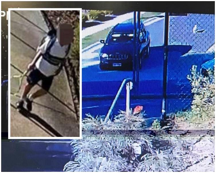 男孩Oliver Yang在家門口被強行拖入汽車帶走。網圖