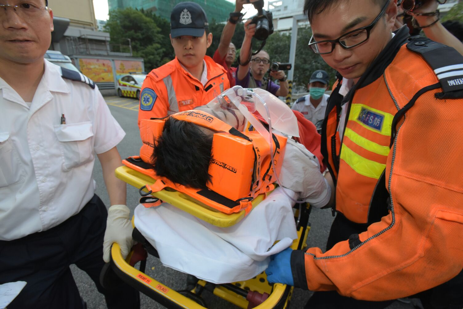男子捱撞昏迷送院搶救。黃文威攝