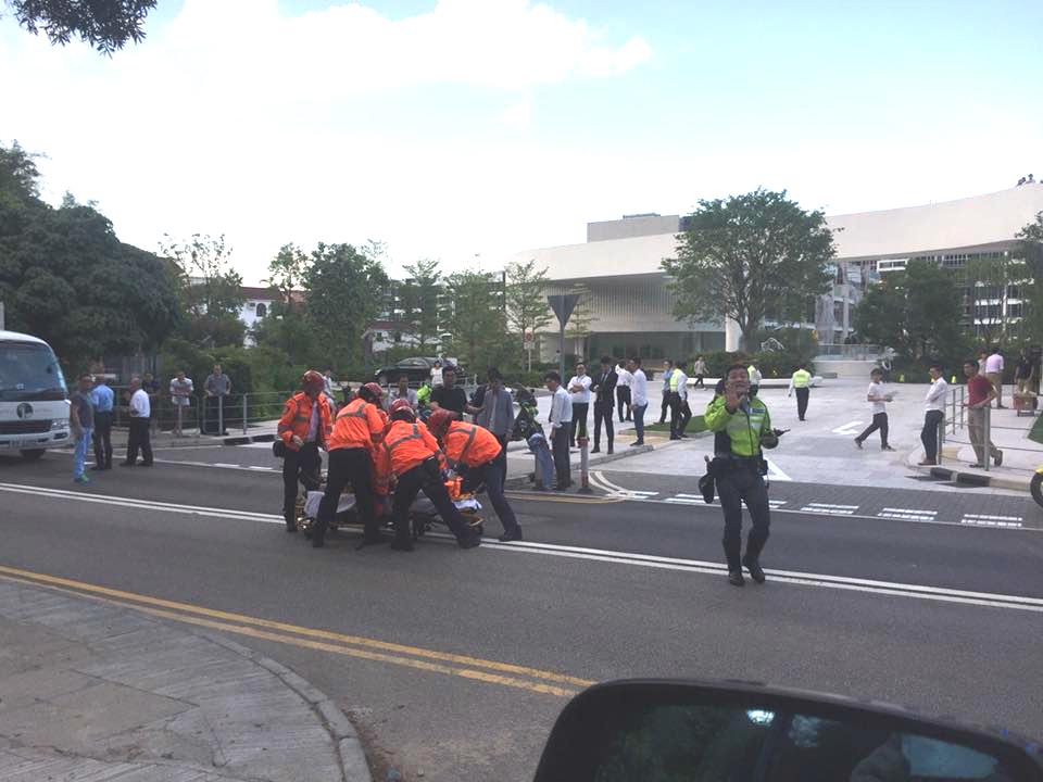 清水灣道意外。網民Zoe Pang 圖片