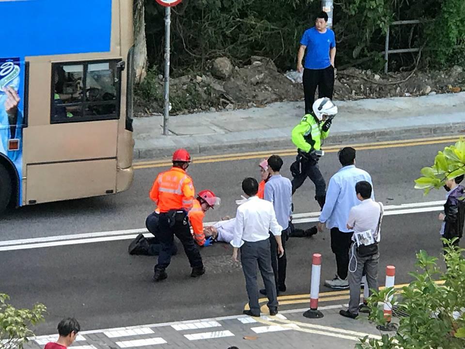 清水灣道意外。網民James Bobo Pang圖片