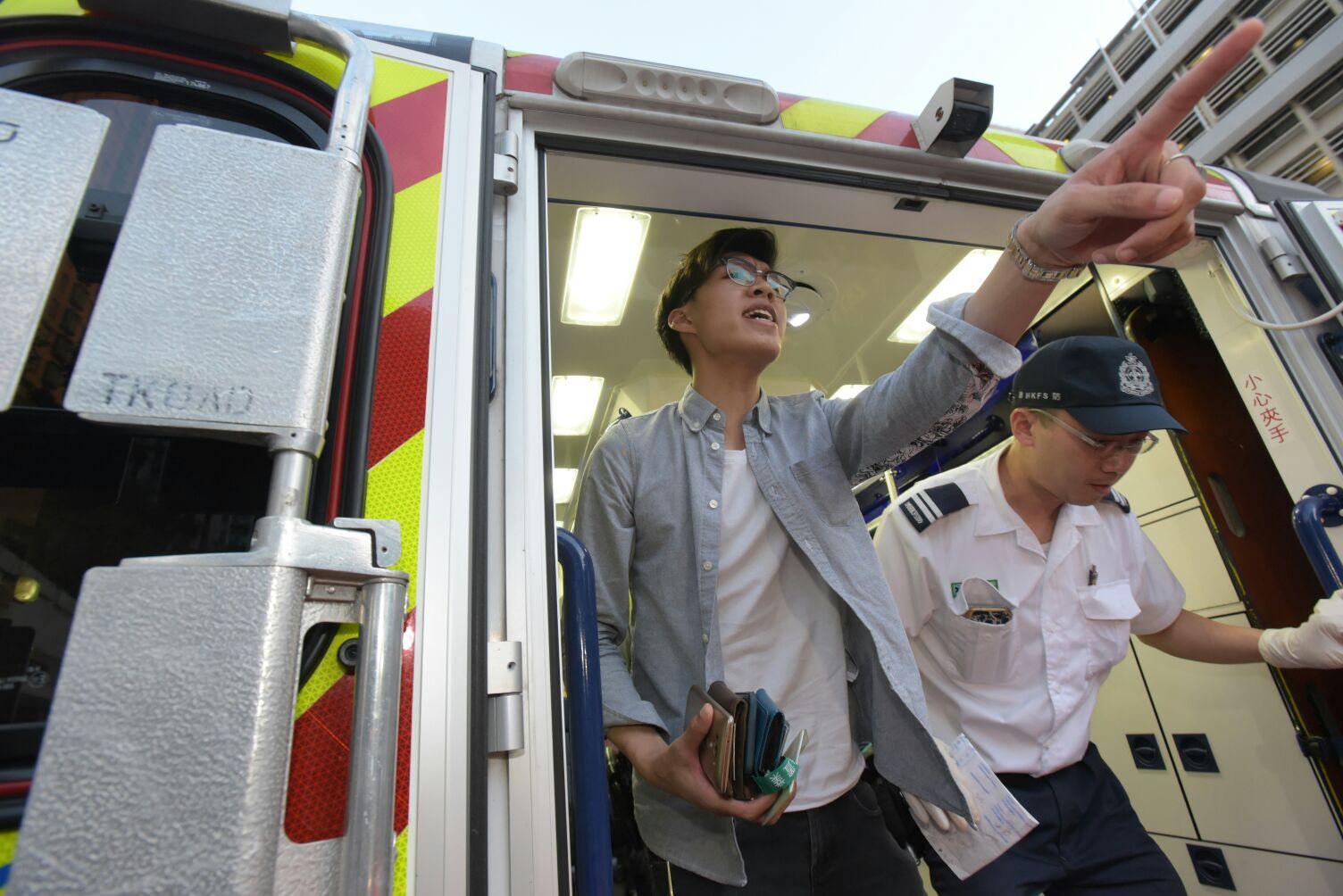 傷者同事隨同帶醫院