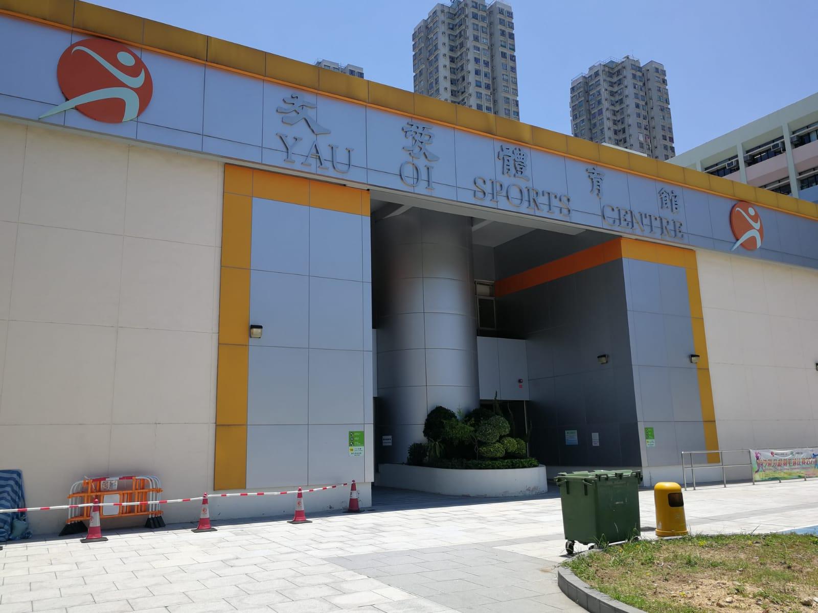 現場是屯門興安里3號友愛體育館。 梁峰國攝