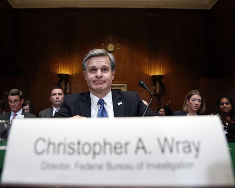 美國聯邦調查局局長克里斯托弗.雷。AP