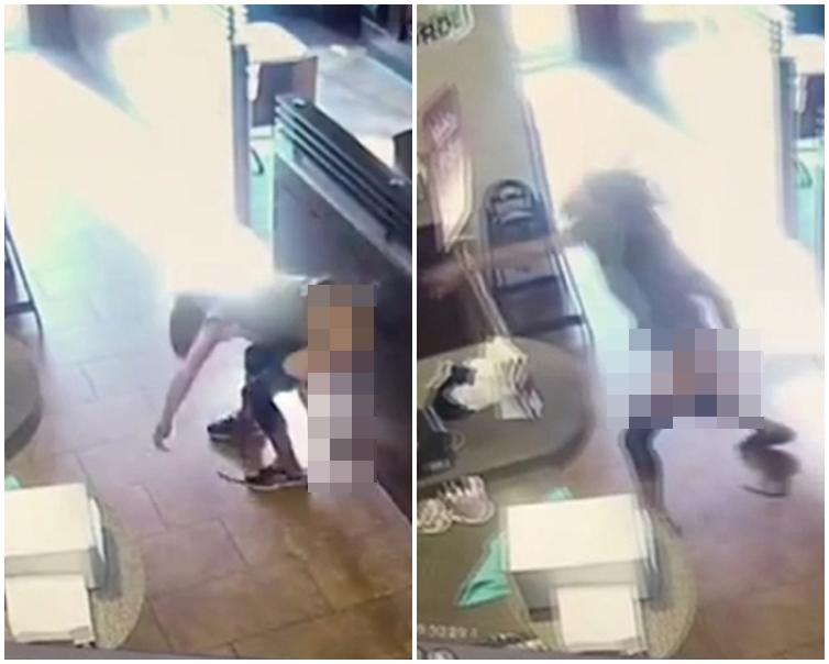 女子當眾脫褲瞬間大便,撿起來就擲往店員臉上。網圖