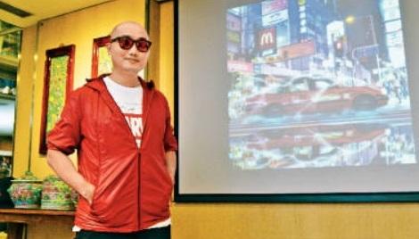 Tommy Fung的超現實作品Flying Taxi(暫稱)打入Discovery攝影比賽的九強。