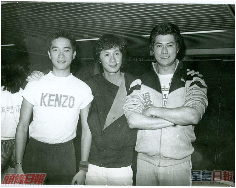 陳百強(左)與許冠傑及鄧光榮合照。資料圖片