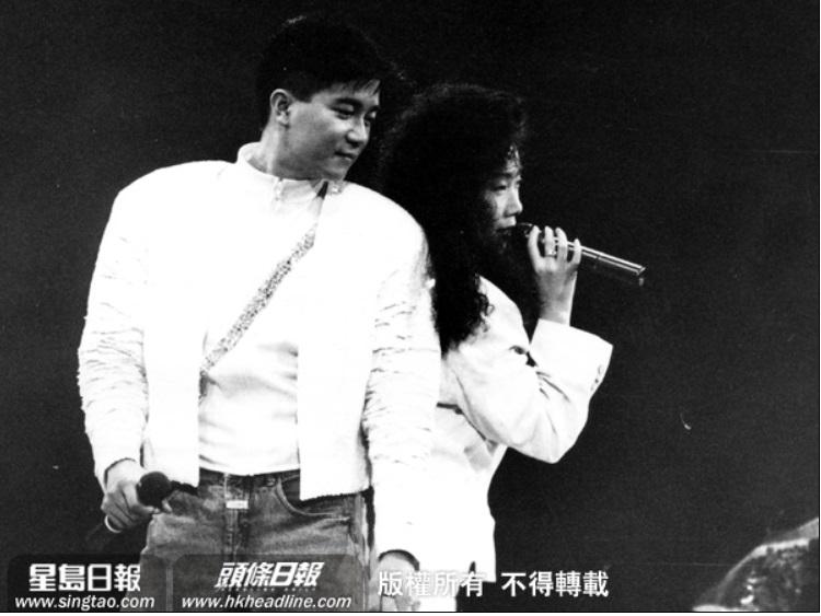 陳百強與林憶蓮曾有合唱作品。資料圖片