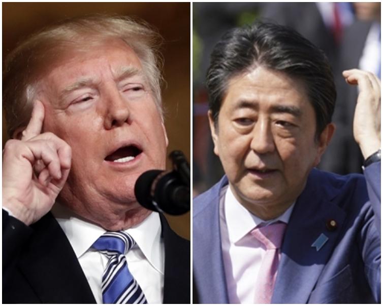 特朗普與安倍晉三關係密切,日本不獲鋼鋁徵稅豁免,讓人意外。AP