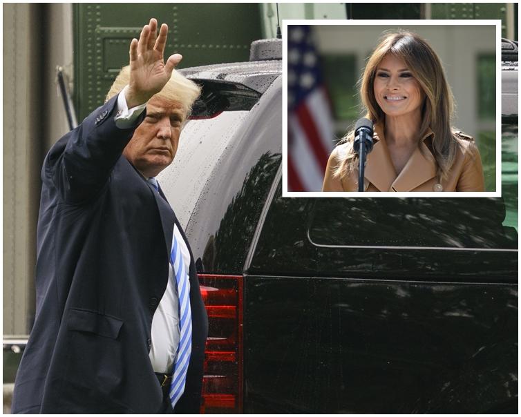 特朗普在妻子術後住院期間已經連續3日前往探望。AP