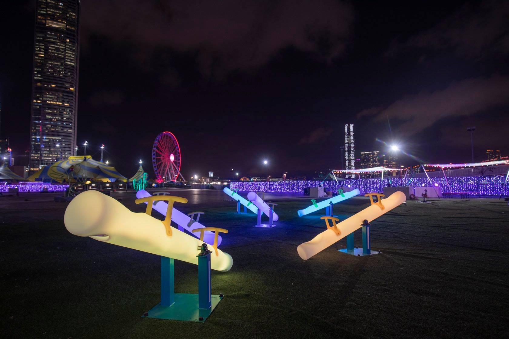 光影遊樂園一連三晚免費入場。