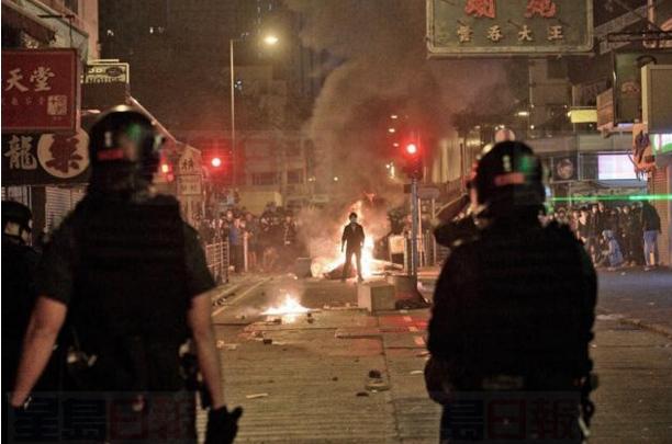 前年大年初二凌晨旺角發生騷亂案。資料圖片