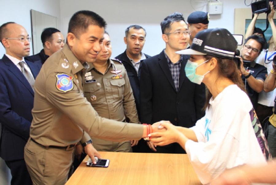 福建婦人泰國遭綁架獲救。網上圖片