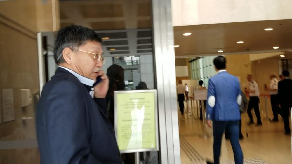 事發當日在觀塘碼頭與被告對話的劉奕輝(譯音)。