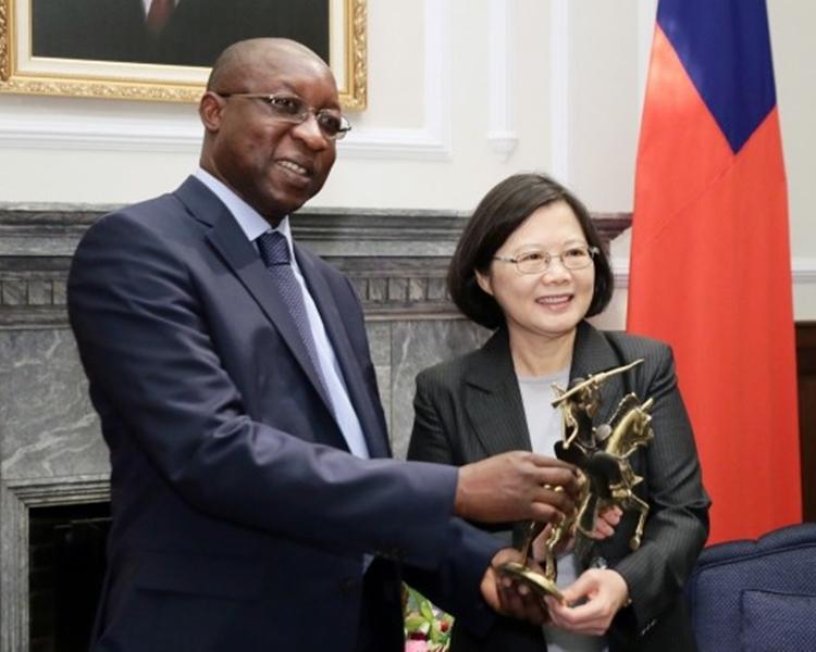 蔡英文曾接見布基納法索總理Paul Kaba Thieba。台灣總統府圖片