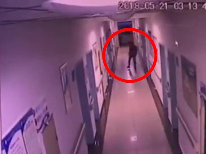 謝姓男子深夜竄入醫院婦產病房並企圖偷走男嬰。(網圖)