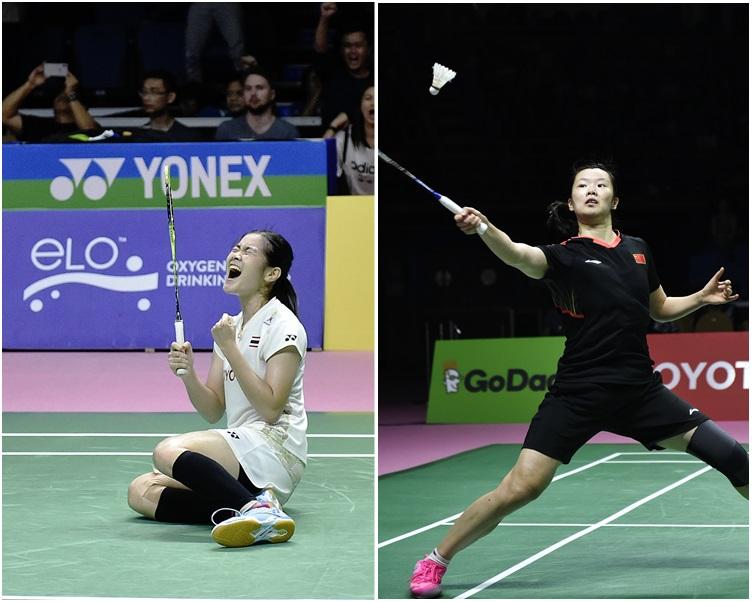 圖左,泰國選手慶祝獲勝。圖右為中國隊選手。新華社