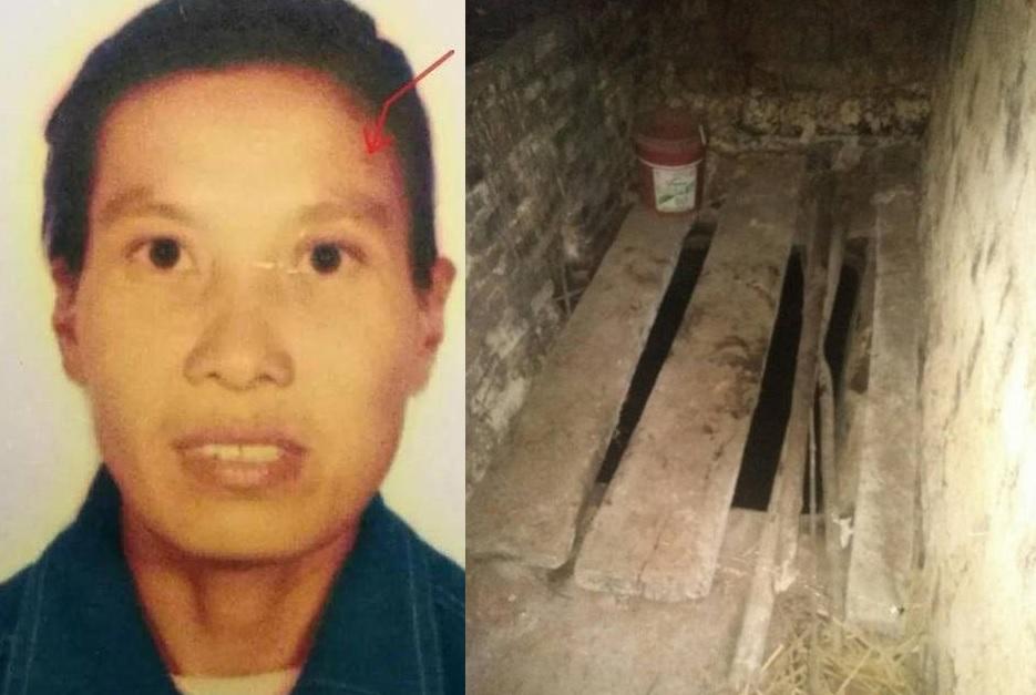 段尾(圖左)兩名女兒日前疑被人用菜刀斬死,伏屍鄰居廁所內。