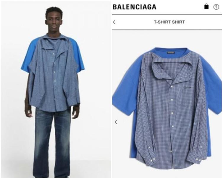 「T恤+恤衫」價值1290美元。網圖