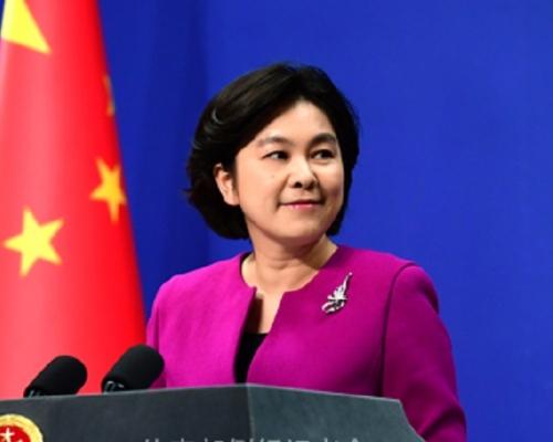 華春瑩重申,中方奉行防禦性國防政策。資料圖片