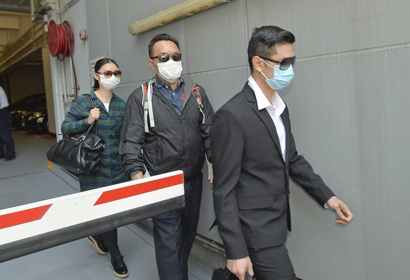 三名被告(左起)李軒賴、伍肇龍及鄧文祖。資料圖片