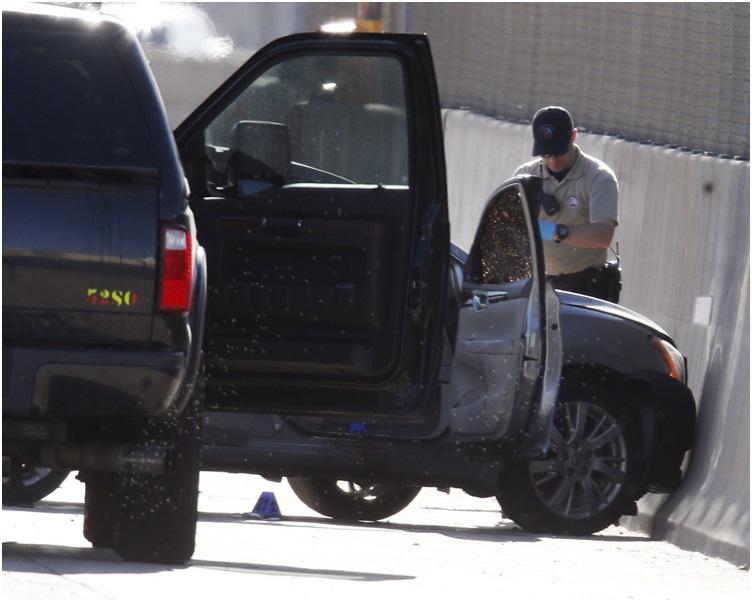 警方封鎖現場調查。AP