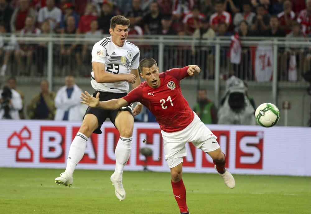 德國先開記錄,但換邊後奧地利連追兩球。AP