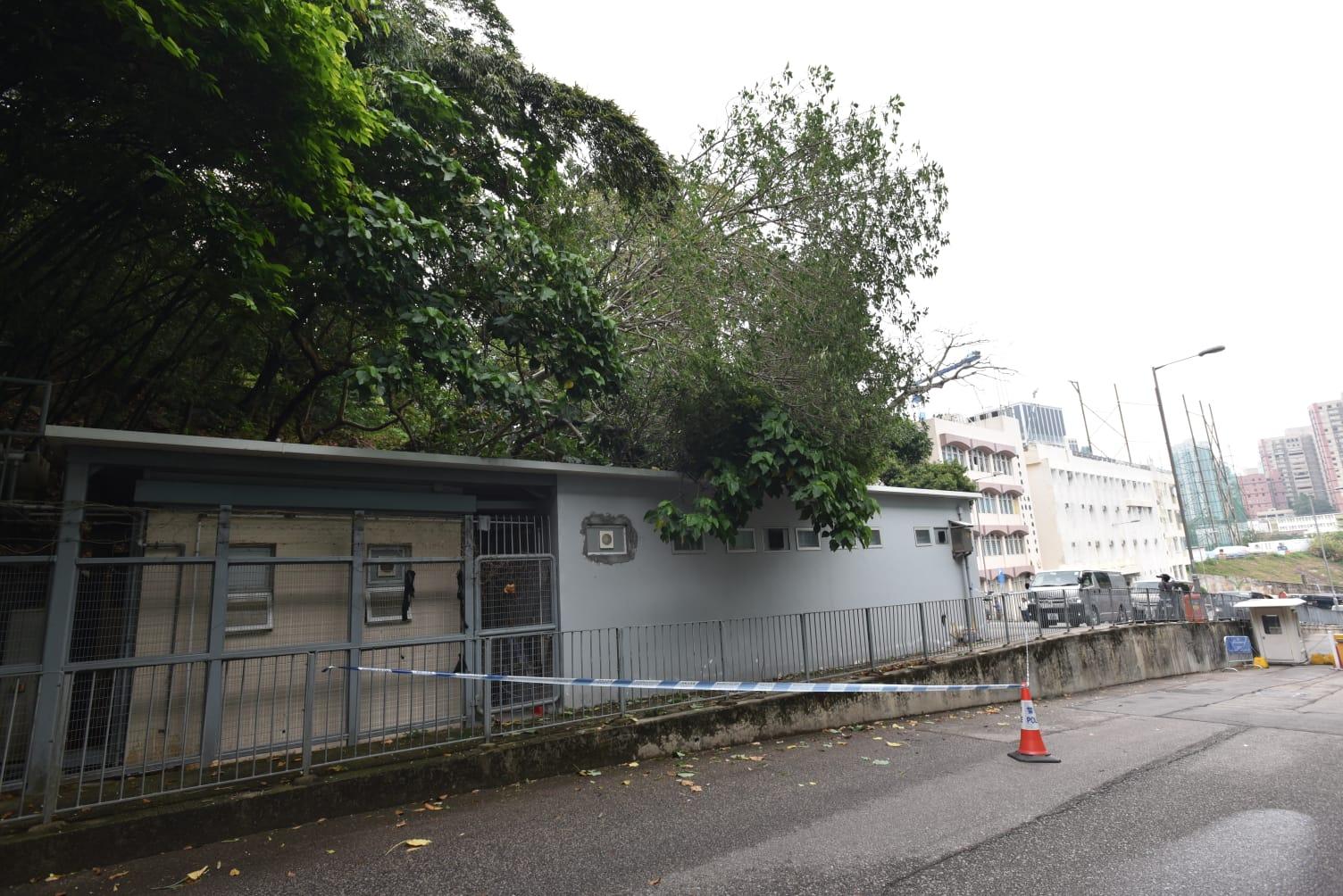 現場是銅鑼灣大球場徑1號掃桿埔駕駛考試中心。 楊偉亨攝