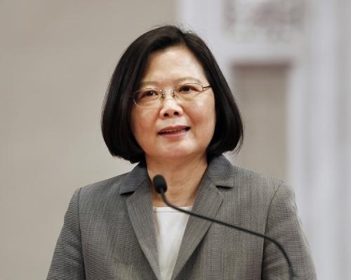 台灣總統蔡英文。AP