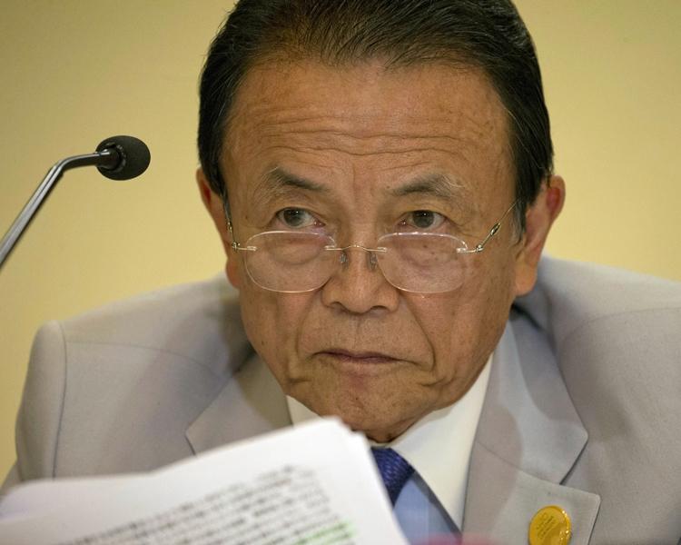 日本財務相麻生太郎。AP