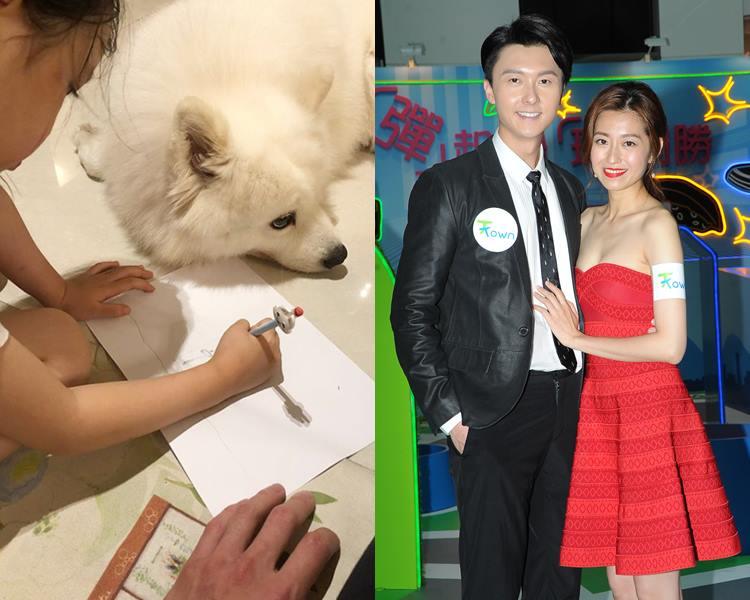 王浩信懶理婚變傳聞,甫囡囡畫畫相晒溫馨。