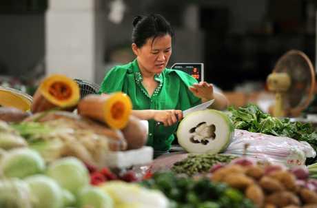 中國5月居民消費價格指數上漲1.8%,升幅與4月相同。AP