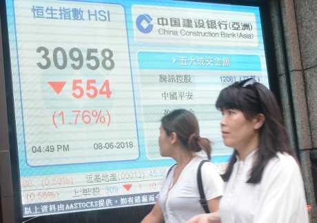 上周五股王騰訊拖累港股走軟。