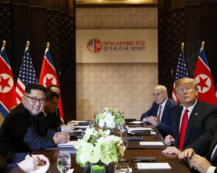 兩人結束高層會議後,便會一同享用午宴。AP