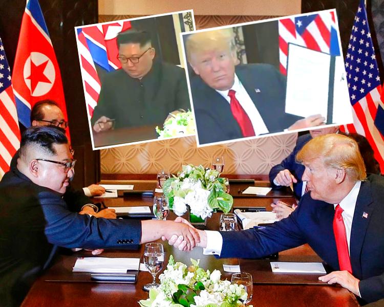雙方簽署文件,成為歷史一刻。AP