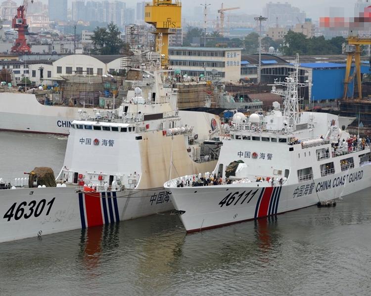 耿爽宣稱,中國海警「一貫依法辦事」。網圖