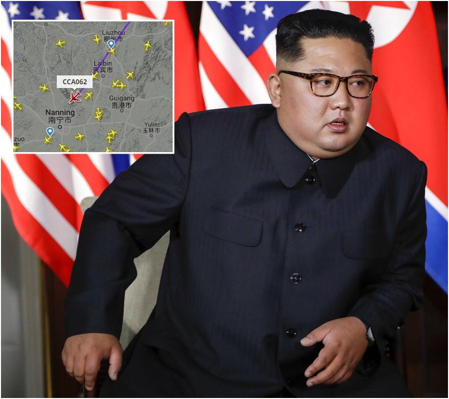 金正恩預料乘坐中國國際航空公司專機返回平壤。AP