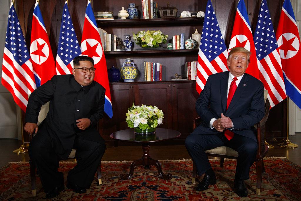 分析指北韓領袖金正恩佔優勢。AP圖片