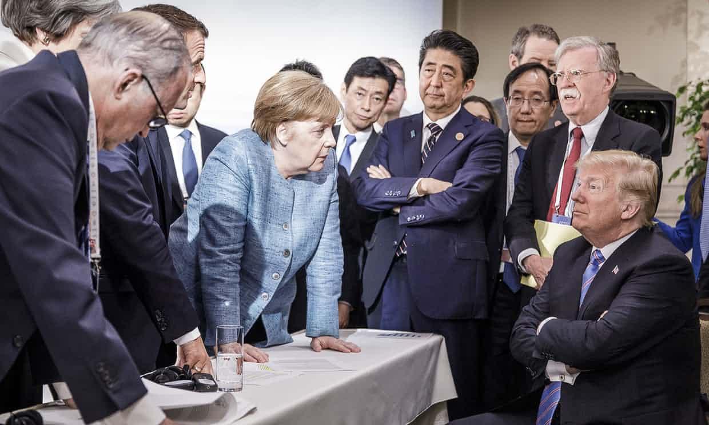 特朗普承認表情看似不友善。網上圖片